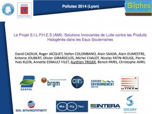 Le projet S.I.L.P.H.E.S. (AMI) - Solutions Innovantes de Lutte contre les Produits Halogénés dans les Eaux Souterraines - REMEA - 2014