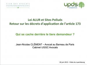 Qui se cache derrière le tiers demandeur_-présentation de Jean-Nicolas CLÉMENT, CDAE - UGGC - 2015