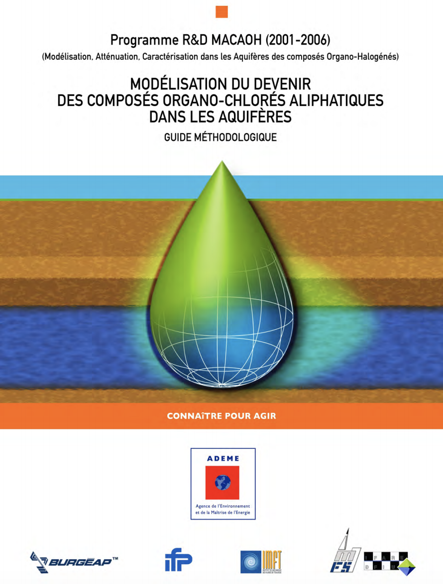MACAOH- Atténuation naturelle des composés organo-chlorés aliphatiques dans les aquifères - ADEME - 2008