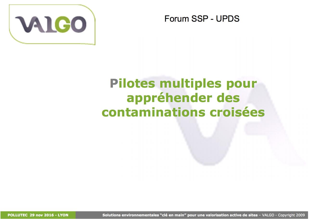 Pilotes multiples pour appréhender des contaminations croisées - VALGO - 2016