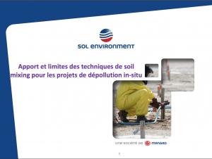 Apport et limites des techniques de Soil mixing pour les projets de dépollution in situ - REMEA - 2016