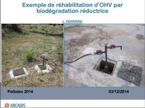 Exemple de réhabilitation d'OHV par biodégradation réductrice