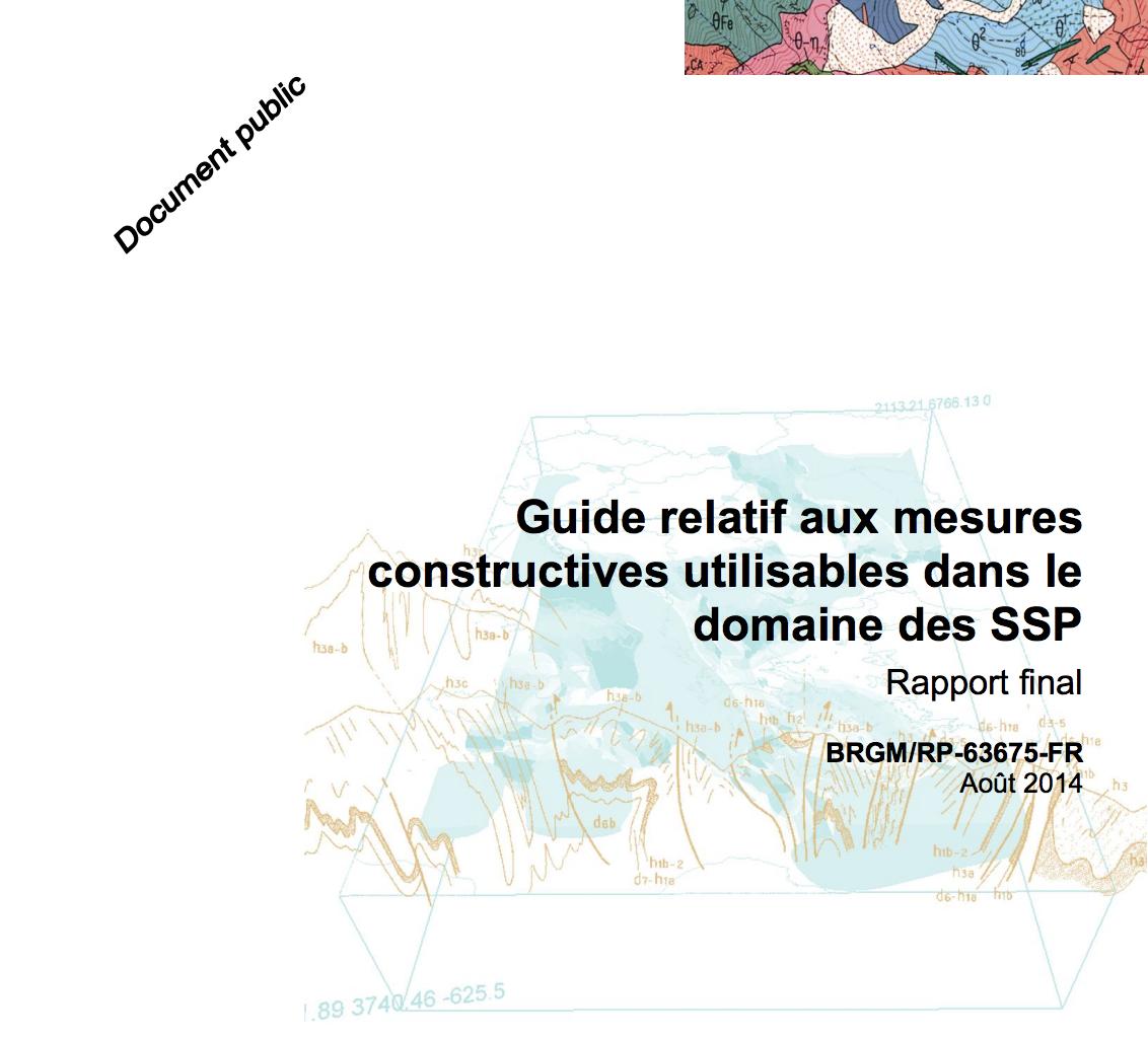 Guide relatif aux mesures constructives utilisables dans le domaine des SSP - BRGM - 2014
