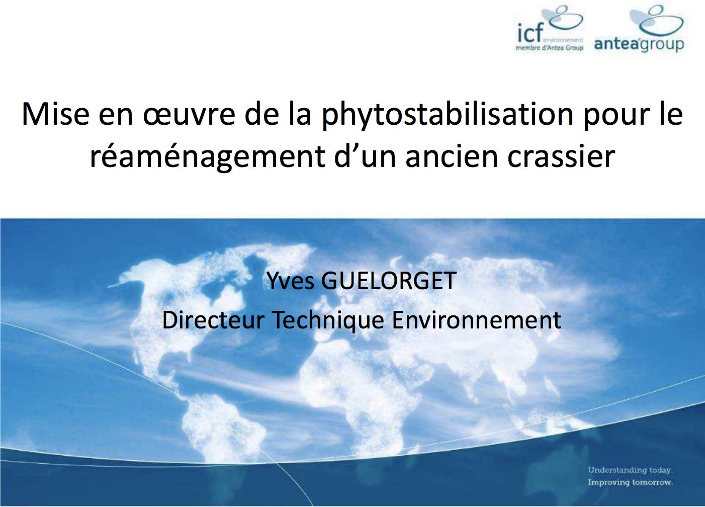 Mise en œuvre de la phytostabilisation pour le réaménagement d'un ancien crassier - ICF ENVIRONNEMENT - 2016